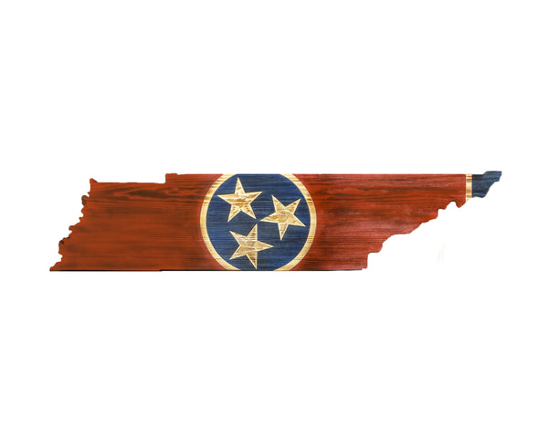 Charred Tennessee cutout