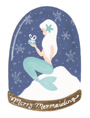 Merry Mermaiding Snow Globe