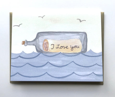 I Love You Message in a Bottle