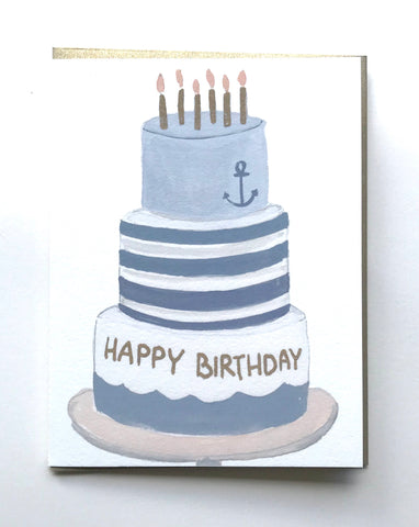 Happy Birthday Nautical Cake