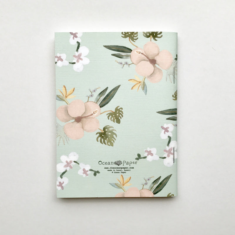Hibiscus + Orchid Mint Mini Notebook