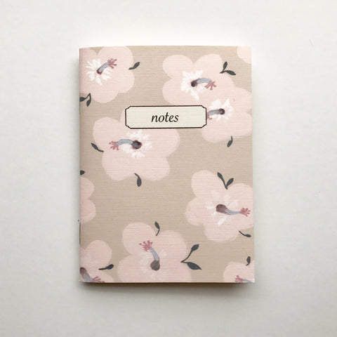 Pink Blush Hibiscus Mini Notebooks