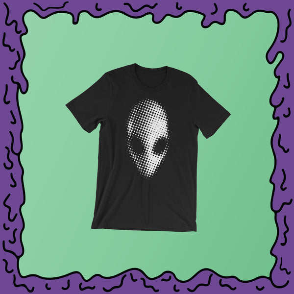 Alien Head Halftone - Shirt