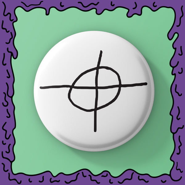 Zodiac Killer - Cross - Button