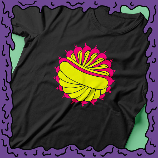 psychedelic hot dog tee shirt zoom twist moist clothing and junk