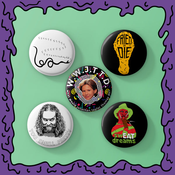 HOT! HOT! HOT! - Button Pack - 03