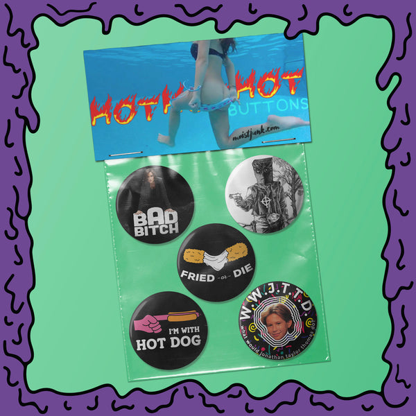 HOT! HOT! HOT! - Button Pack - 01
