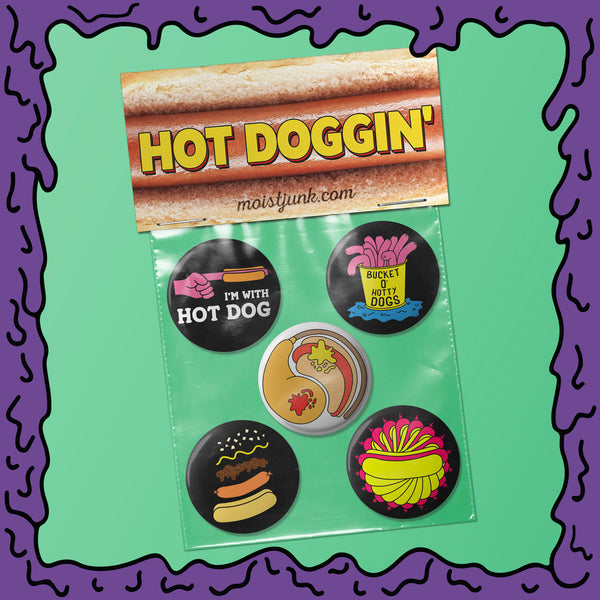 HOT DOGGIN' - Button Pack - 02