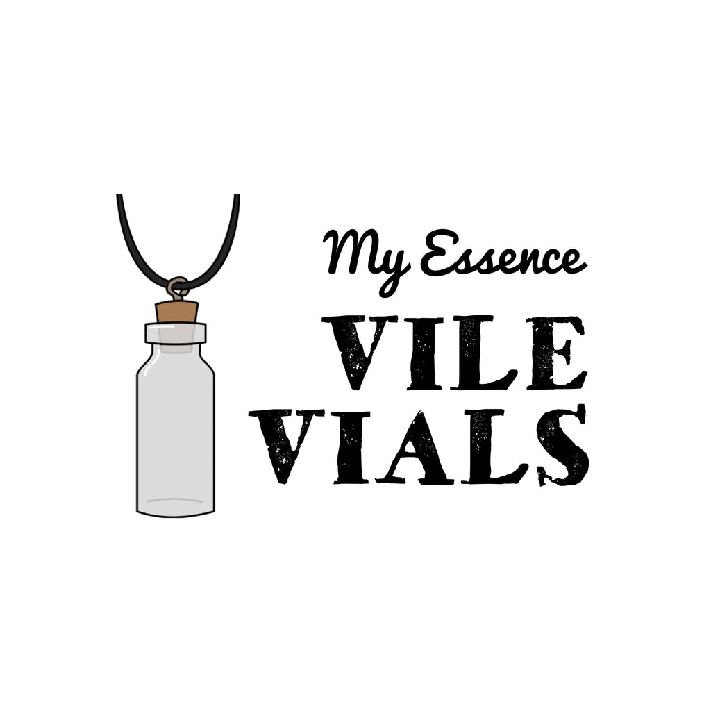 my essence vial viles vile necklaces product photo