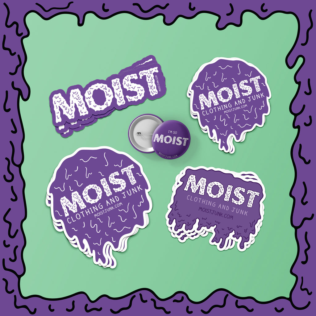 MOIST - Sticker & Button Pack