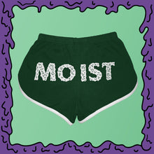 Load image into Gallery viewer, moist booty shorts running american apparel back green