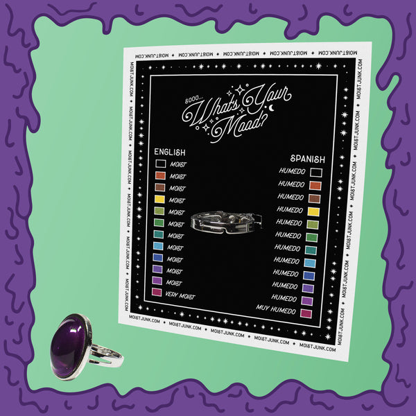 moist mood ring back card moods two 2