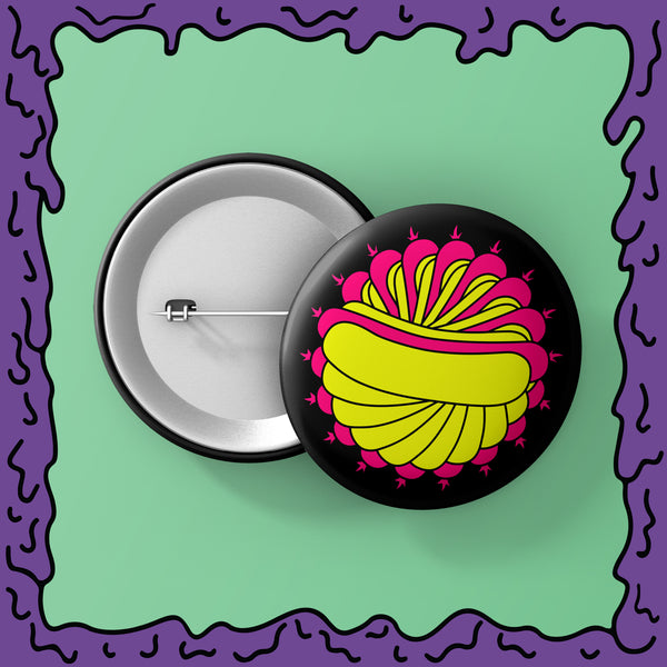 Psychedelic Hot Dog - Button