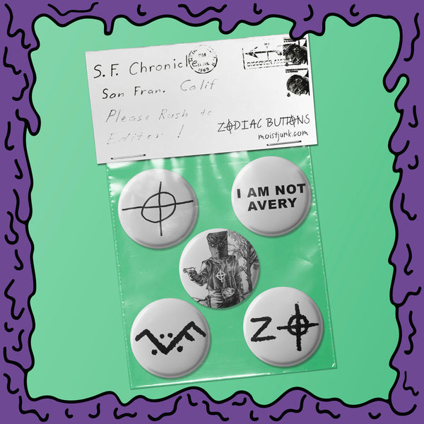 Zodiac Killer - Button Pack - 01