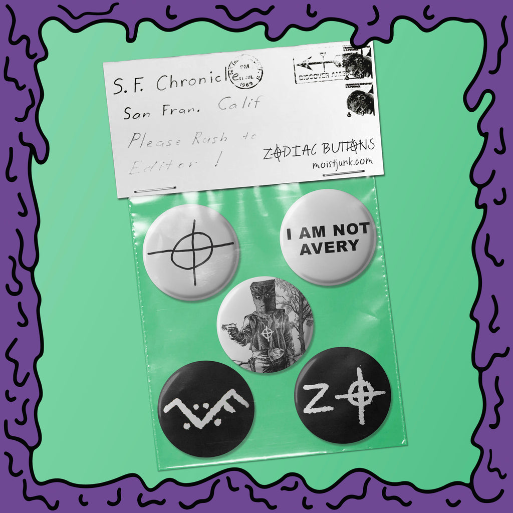 Zodiac Killer - Button Pack - 02