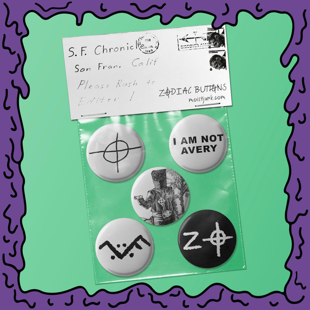 Zodiac Killer - Button Pack - 03