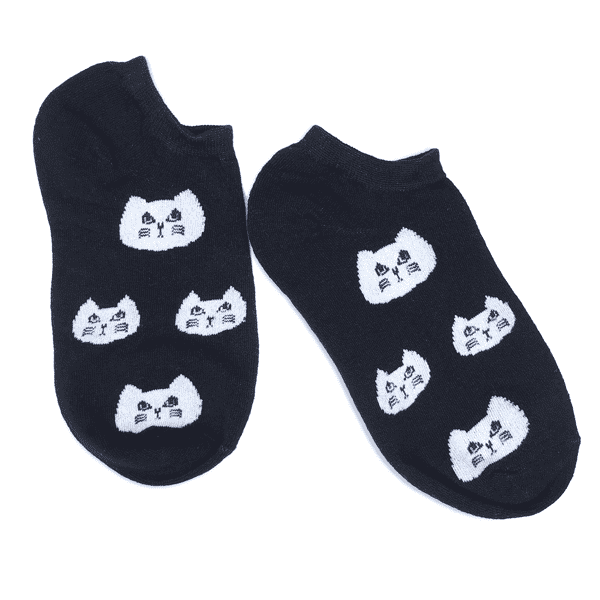 Cute Cat Faces Socks - Apparel - Monty Boy
