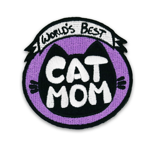 Cat Mom Patch (Iron-On) - Merchandise - Monty Boy