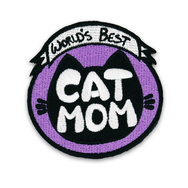 Cat Mom Patch (Iron-On)