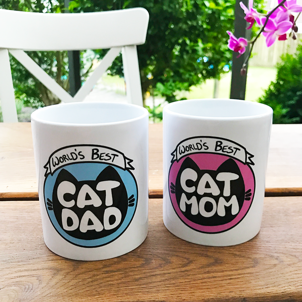 World's Best Cat Mom/Dad Mug - Home Decor - Monty Boy