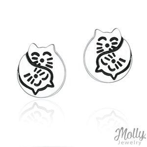 Cute Cuddle Silver Earrings - Jewelry - Monty Boy