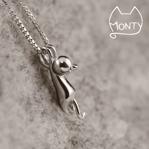 Cute - Cat Necklace - Jewelry - Monty Boy