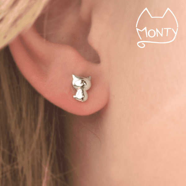 Kitties - Cat Earrings - Jewelry - Monty Boy