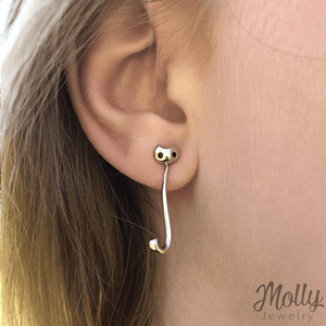 Kitty Molly Silver Earrings - Jewelry - Monty Boy
