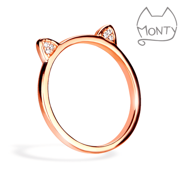 Meow - Ring (Rose Gold) - Jewelry - Monty Boy