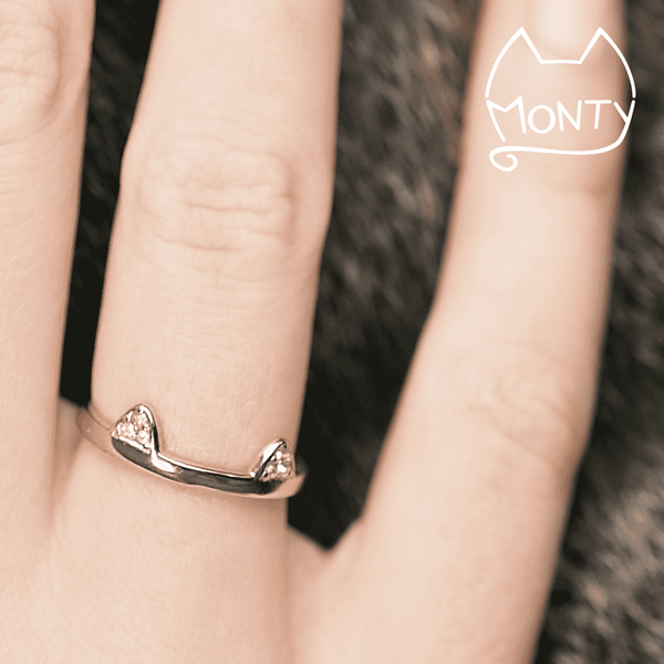 Mew - Cat Ring (Silver) - Jewelry - Monty Boy