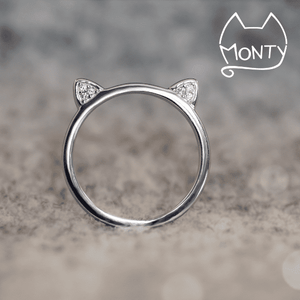 Meow - Cat Ring (Silver) - Jewelry - Monty Boy