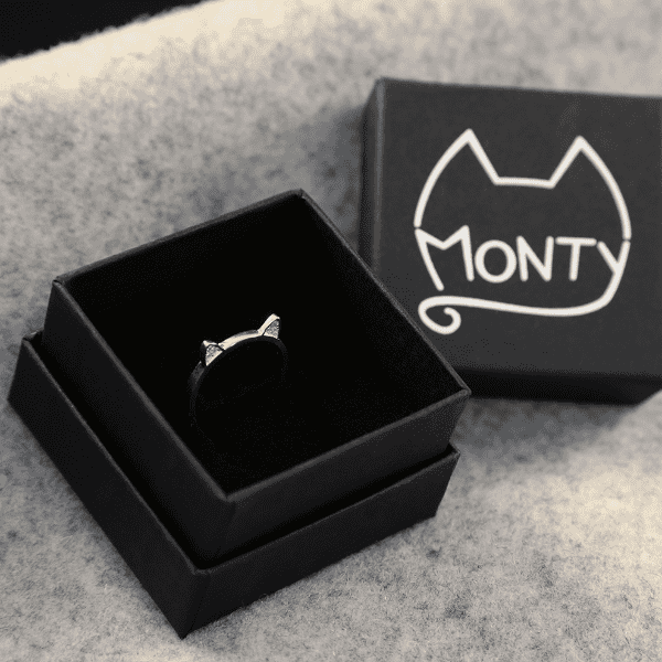 Meow - Cat Ring (Gold) - Jewelry - Monty Boy