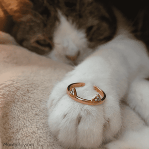 Mew - Cat Ring (Gold) - Jewelry - Monty Boy