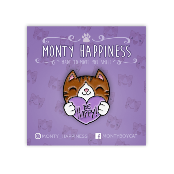 Be Happy Monty Keychain - Merchandise - Monty Boy