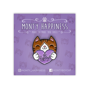 Be Happy Monty Pin - Merchandise - Monty Boy