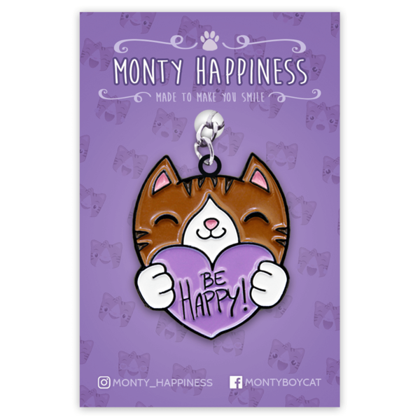 Be Happy Monty Keychain
