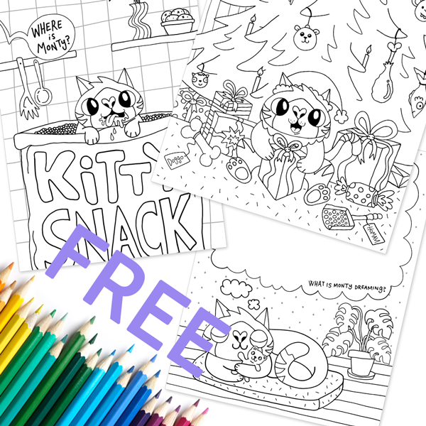 Monty's Printable Coloring Drawings - Merchandise - Monty Boy