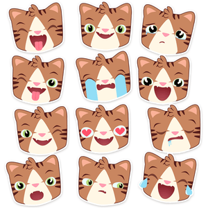 Monty Emoji Stickers - Merchandise - Monty Boy