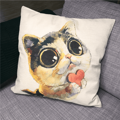 Monty Cat Toss Pillow Case - Merchandise - Monty Boy