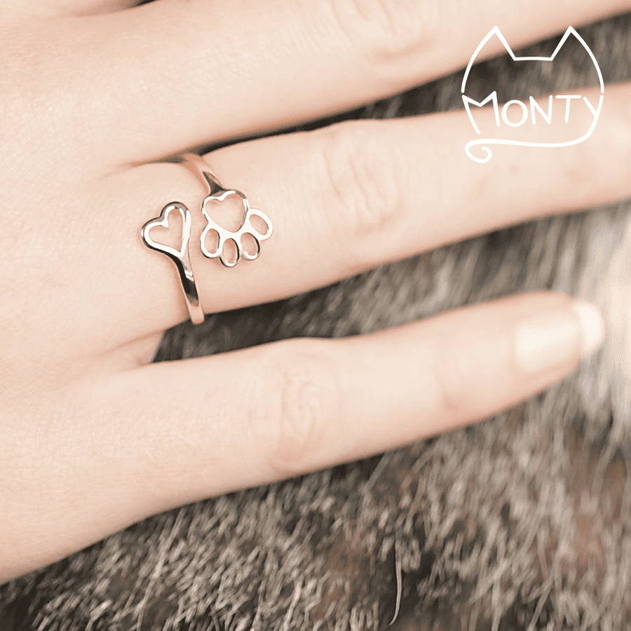PAWsome Love - Cat Ring (Rose Gold) - Jewelry - Monty Boy