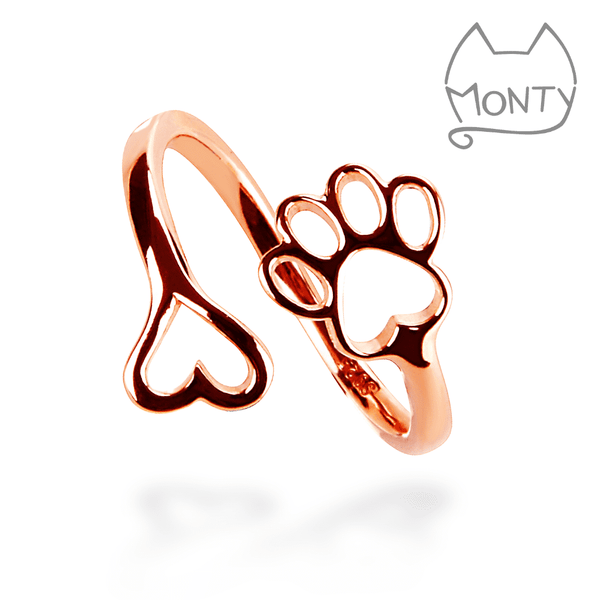 PAWsome Love - Cat Ring (Rose Gold)