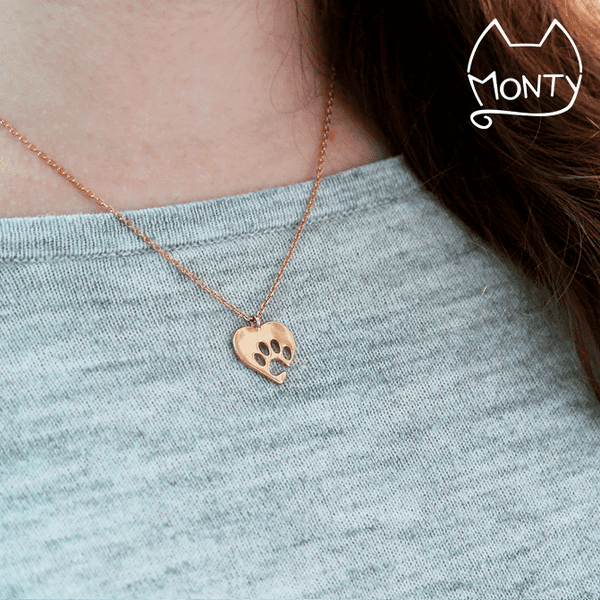 PAWsome Love - Necklace (Rose Gold)