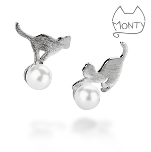Playful Kitties - Cat Earrings - Jewelry - Monty Boy