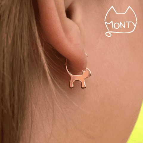 Cats - Cat Earrings (Rose Gold) - Jewelry - Monty Boy