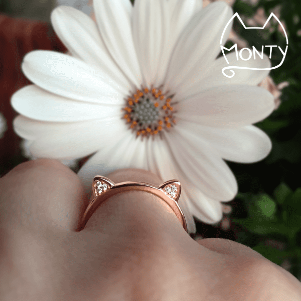 Meow - Cat Ring (Rose Gold) - Jewelry - Monty Boy