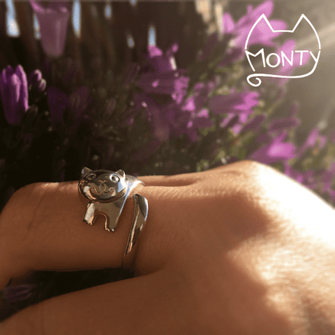 Monty Cat Ring Silver - Jewelry - Monty Boy
