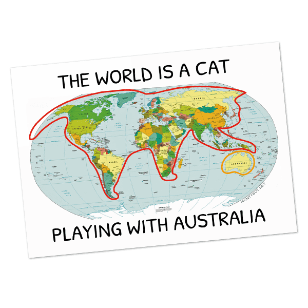 The World Is A Cat Postcard - Home Decor - Monty Boy