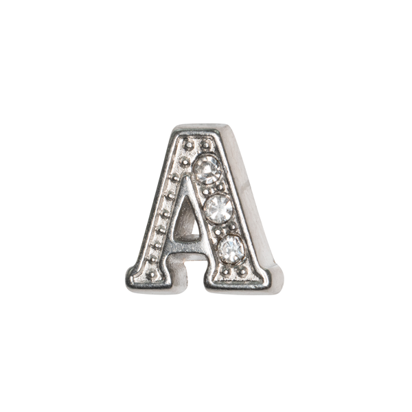 Silver & Crystal Letter A Charm - SPECIAL jewelry - Monty Boy