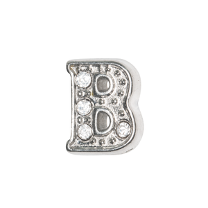 Silver & Crystal Letter B Charm - SPECIAL jewelry - Monty Boy