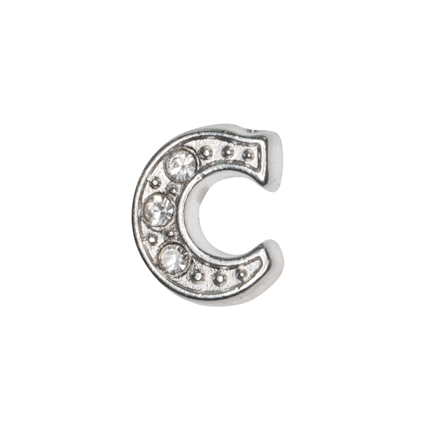 Silver & Crystal Letter C Charm - SPECIAL jewelry - Monty Boy